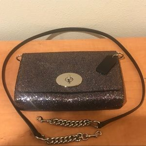 Coach glitter multi-color crossbody bag